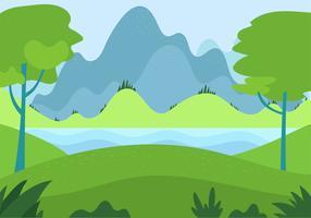 Ilustración de paisaje Vector dibujado a mano libre