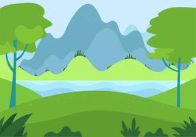 Free Hand Drawn Vector Landscape Illustration