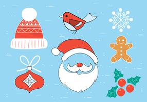 Free Hand Drawn Vector Christmas Elements