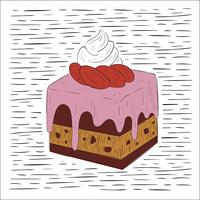 Free Hand Drawn Vector Cake Illustration