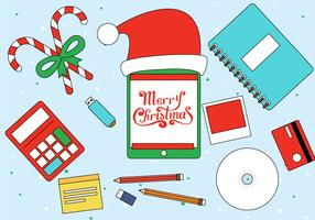 Gratis Jul Vektor Elements Illustration