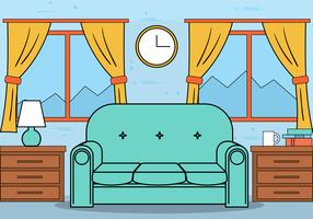 Free Flat Design Vector Room Illustration