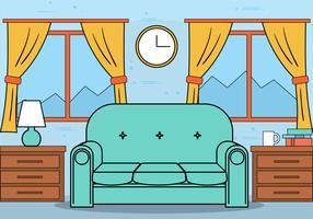 Free Flat Design Vector Room Illustration