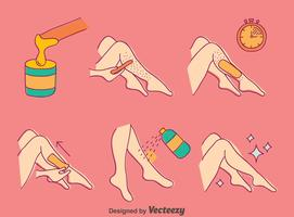 Leg Waxing Vector