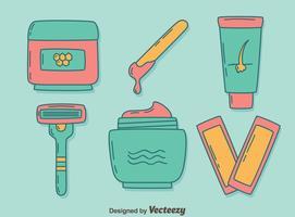 Herramientas de eliminación de cabello en Vector azul