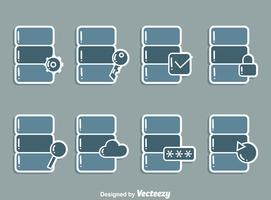 Data Base Icons Vector