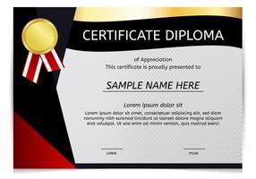 Zertifikat-Diplom-Vektor