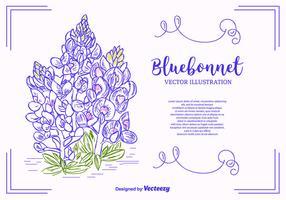 Bluebonnet-Vektor-Hintergrund