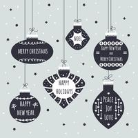 Fondo de vector de bolas de Navidad
