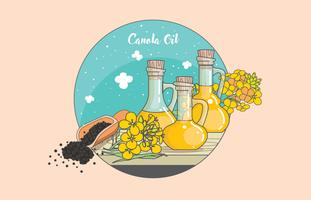 Canola Bottle Vector