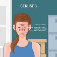 Woman Sinus Vector Illustration