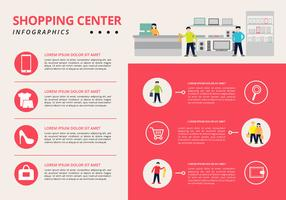 Free Shopping Center Infographic vector