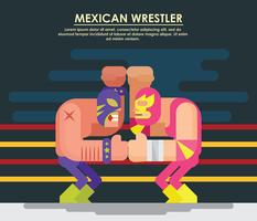 Mexicaanse worstelaar illustratie