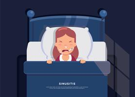 Sinus Free Sickness Vector