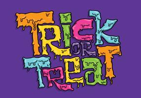 Trick or Treat belettering Vector