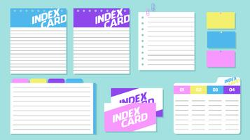Index Card Free Vector