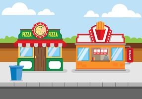 Food Shopping Center Free Vector