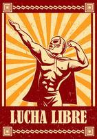 Vecteur de lutteur mexicain