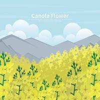 Kostenlose Canola Feld Illstration