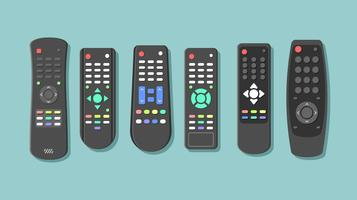 Black TV Remote Gratis Vector