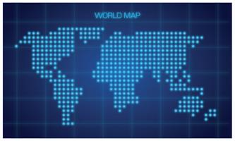 Gratis Modern Global Map Vector