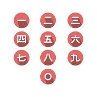 Gratis Japanse nummervector