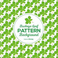 Colorful Vector Buckeye Leaf Seamless Pattern
