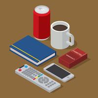 TV Remote Set Isometric Free Vector