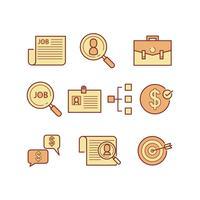 gratis jobb sök ikon vektor