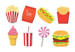 Concession Icon Set vector