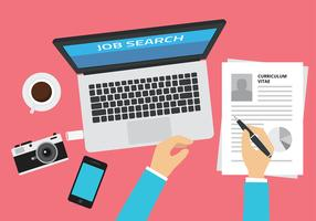 Job Search Illustration Free Vector