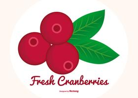 Flat Style Cranberries Illustration