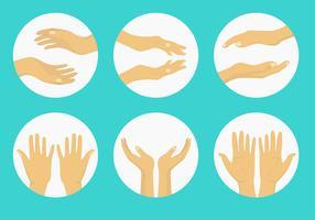 Genezing Hand vrije vectoren