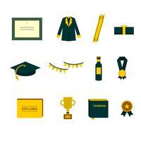 Vecteur d'éléments diplômés