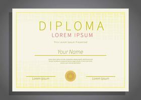 Free Horizontal Diploma Template Illustration