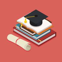 Diploma de graduación isométrica Vector libre