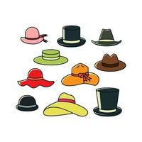 Free Hats Collection In Colorful Vector