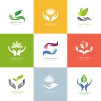 Holding-Handkonzept-Logo-Vektoren