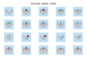 Vectores de manos sanadoras gratis