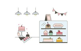 Gratis Cake Shop Vector