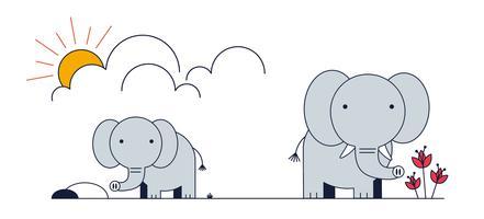 Vecteur d'éléphant gratuit