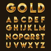 Gouden 3D-lettertypen Vector