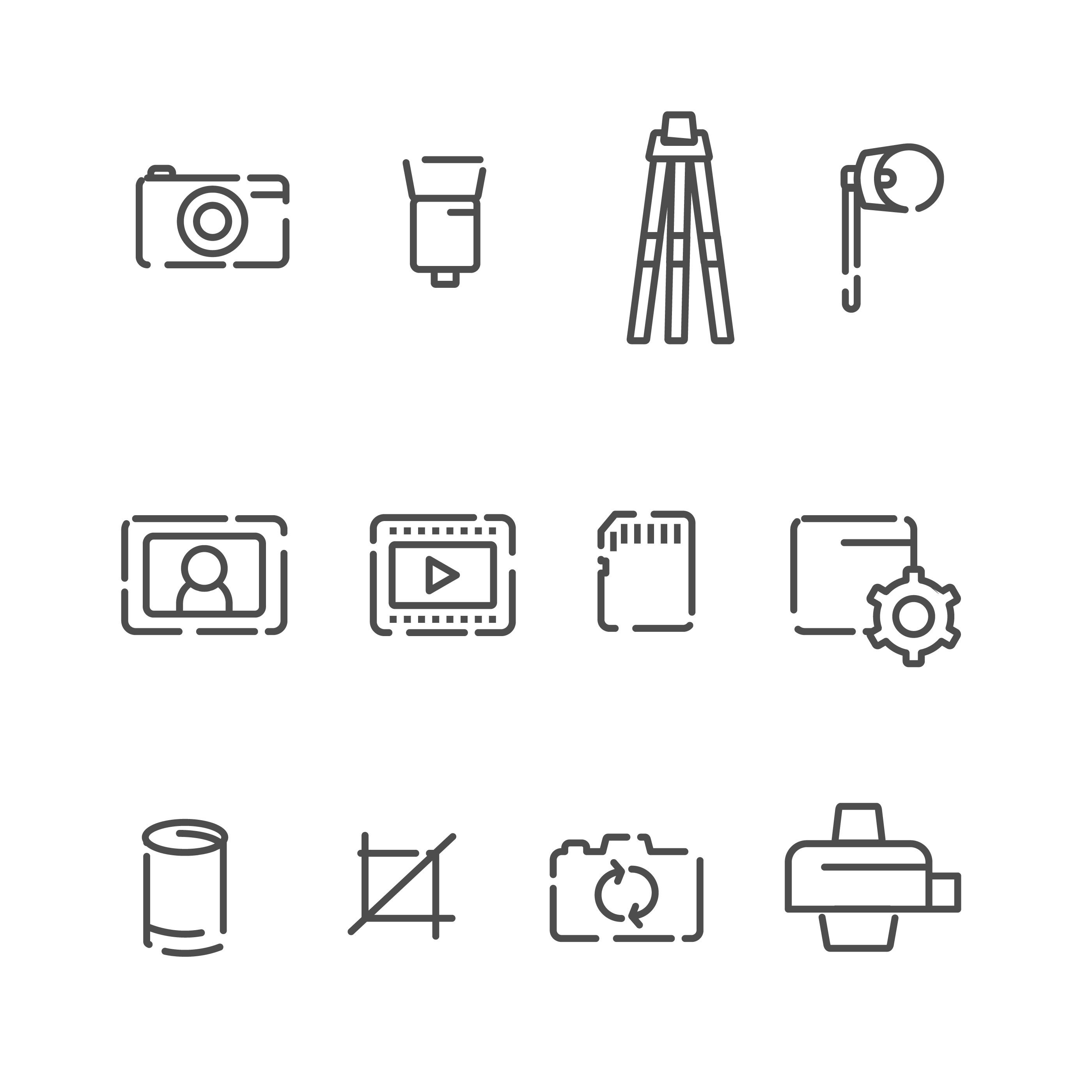 Kostenlose Kamera und Fotografie Icon Set - Kostenlose Vektor-Kunst ...