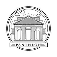 Lijn kunst Damascus Pantheon Vector