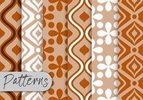 Colorful Brown Pattern Set  vector
