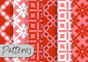 Red Geometric Pattern Set  vector