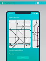 Tube Map Mass Transportation. Mobile Location Sharing and Social Media Template.