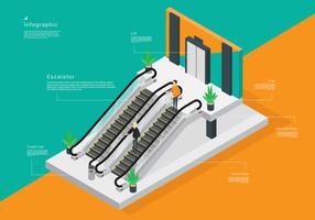 Isometrische Rolltreppe Vector Stock