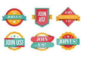 Join Us Badge Vector Collection