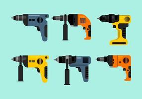 Collection de vecteur coloré outils pneumatiques